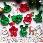 10 Pcs 3d Christmas Cookie Cutters Awesome - 3d Printed | Eu Stock