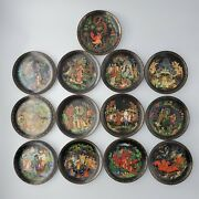 Vintage Russian Legends Collector Plates Complete Series 12 + 1 Primer Plate
