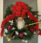 Home Alone Santa Claus Wreath Insert Hand Painted Christmas Decoration