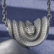 Menand039s Womenand039s Real Solid 999 Sterling Silver Pendants Snake Animal Fashion