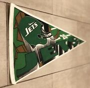 Classic 1994 New York Jets Pennant Flag Trench Mfg Nfl Full Size Gang Green