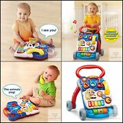 Vtech Sit-to-stand Learning Walker Free Packaging Blue Frustration
