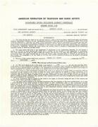 Lee Marvin Signed 4 Page Agency Contract Beckett Y03170