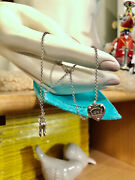 Return To Love Heart Tag Key Double Chain Bracelet Sterling Small Size6