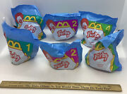 1998 Mcdonalds Furby Happy Meal Toys Complete Set Of 6 Unopened Plastic Bags