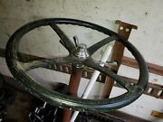Model A Ford 7 Tooth 1928 - 1929 Rebuilt Steering Column With Horn And Wheel