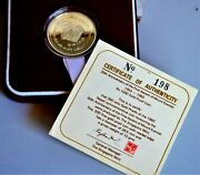 1983 Nepal Gold Proof Coin Rs1000 -30th Anniversary Ascent Mt Everest