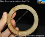 China Ancient Hetian Jade Hand Carved Han Dynasty Decoration Hand Ring Bracelet