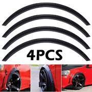 Universal 4pcs 2/50mm Fender Flares Over Wide Body Wheel Arches Auto Car Kit Us