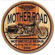 Man Cave Round Metal Signs Automotive, Gas Oil, Rail, Armed Forces, Soft Drinks