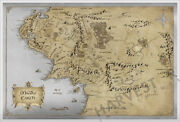 2021 Lord Of The Rings - Map Of Middle Earth - Premium Silver Foil 35 Grams