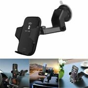 Qi Wireless Charger Dock Car Holder Charging Mount Pad For Iphone Xs