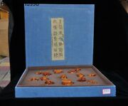 China Tianhuang Shoushan Stone Hand-carved Eight Immortals Seal Stamp Signet Set