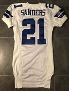 Dallas Cowboys Deion Sanders 2000 Game Issued Jersey With Tom Landry Patch Nike