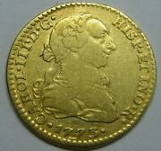 1773 Mexico 1 Escudo Charles Iii Spain Doubloon Spanish Colonial Gold Coin