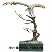 Fengshui Home Decoration Copper Hand-painted Falco Rusticolus Fly Hawk Eagle