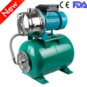 1hp 750w Shallow Well With Pressure Tank 740gph Stainless Steel Jet Pump 110v