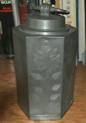 Wrigglework 17th Century Pewter Tea Caddy Canister German Or Pa Hallmarked Wow