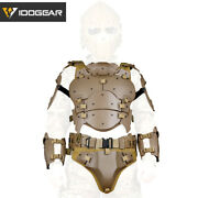 Idogear Tactical Vest Molle Paintball Armor Suit W/ Elbow Pads Buckle Belt Army