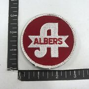 Vtg Albers Advertising Patch Food - Corn Meal And Grits S88u