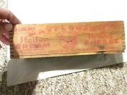 Vintage Mayflowerand039s Heifer Wooden Dairy Cheese Crates Boxes Boston Ma 3lbs.