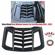 Rear Window Scoop Louvers For 2015-2020 Ford Mustang Sun Shade Shield Cover