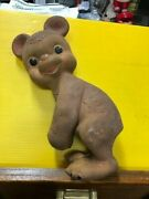 Vintage Bunny Rabbit Rubber Toy By Rempel Mfg. Inc Made In Usa Akronoh