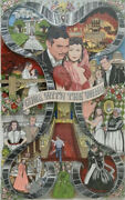 Charles Fazzino 3d Art And039gone With The Windand039 48/100 Artwork Rare Deluxe Edition