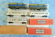 Lionel1586 Santa Fe Passenger 204p And 204 T W/ 2 2432and039s And 2436 Red Letter Cars