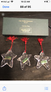 Waterford Crystal Star Wishes Ornaments Set Of 3 Nib