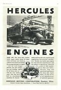 1936 Hercules Engines Ad Heavy Duty Engines For Trucks, Oil Field +. Canton, Oh