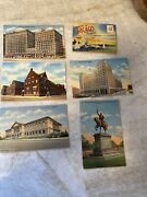Vintage Lot Of 6 1040s 50s Chicago Postcard Linen Finish 1 Fold Out Book Mint