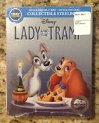 Lady And The Tramp Blu-ray/dvd,signature Collection Steelbook Only@best Buynew