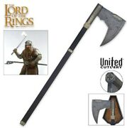 United Cutlery Lord Of The Rings Bearded Axe Of Gimli Uc2628 New Sealed