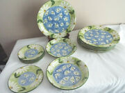 Favanol Martinique Portugal Hand Painted Set Of 12 Plate 10and 8and 6