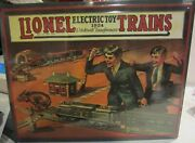 Lionel Electric Toy Trains 1924 Reproduction Metal Sign