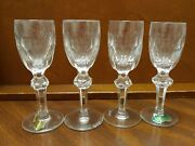 4 Waterford Crystal - Curraghmore Pattern - 4 3/4 Cordials Knob Stem Old Mark