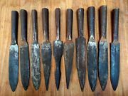 Old Iron Spear Head Hand Forged Spike Pike 10 Pc Old War Spear Head Collectible