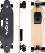 Pro Electric Skateboard 350w Power Motor Cruiser Maple Long Board With Remote +