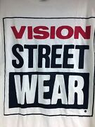 Vintage 1987 New W/ Tag Authentic Vision Street Wear White T-shirt Size 20 Xl