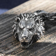 Menand039s Womenand039s Real Solid 999 Sterling Silver Pendants Lion King Animal Lion Head