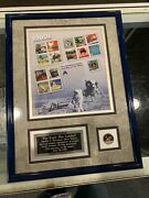 12x16 Framed Buzz Aldrin Signed Apollo 11 The Eagle Has Landed Stamp Coin Jsa