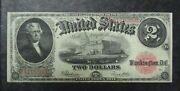 Series 1917 2 United States Star Note Fr-60 Speelman And White Vf/xf
