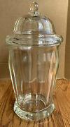 Vintage Antique Glass Display Apothecary Store Candy Canister Jar Biscuit Cookie