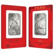 1 Oz Pamp Suisse Year Of The Ox Platinum Bar In Assay
