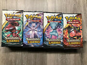 36x Pokemon Tcg Shining Legends Booster Packs Lot Sealed And Unweighed