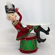 Nutcracker Sitting On Drum - 16.5'' Inches In Height - By Katherine's Collection