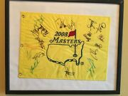 Signed 2008 Masters Augusta National Golf Flag Autographed