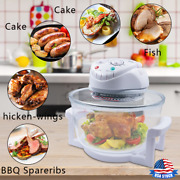 12l Halogen Air Fryer Rotary Convection Oven Low Fat Oil Free Healthy Cooker Usa