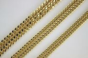 10k Yellow Gold Hollow Miami Cuban Link Chain Necklace 4mm 4.5mm 5.5mm 16 30